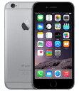 【中古】【安心保証】 au iPhone6[16GB] スペースグレイ
