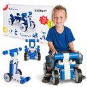 乗用玩具になる大型ブロック!kiditec L-set1100 Multicar blue ブロック 足けり玩具 室内 乗り物 車 自動車 ロボット 12ヶ月 1歳 2歳 3歳 4歳 5歳 男の子 女の子 大きい 知育玩具 おもちゃ 誕生日プレゼント 入園祝い 組み立て 変形 DIY キディテック マルチカーブルー