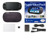 【中古】PlayStation Vita Super Value Pack 3G/Wi−Fiモデル PCHJ−10019 クリスタル・ブラック (限定版)PSVita ゲーム機本体