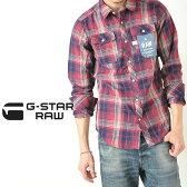 """SALEセール【30%OFF/送料無料】G-STAR RAW ジースターロウ インディゴヴォード チェックシャツ""""LANDOH SHIRT""""G-STAR 83621F.7061【コンビニ受取対応商品】"""