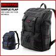 【BRIEFING ブリーフィング】バッグパック「SIMPLE FLAP」BRF096219-010/074 BLACK/MIDNIGHT(BRF096)