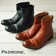 "PADRONE パドローネ プレーントゥ ブーツ(バックジップ)""EDWARD"" PADRONE PU7885-1101-11C"