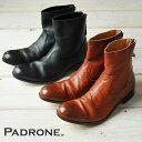 """PADRONE パドローネ プレーントゥ ブーツ(バックジップ)""""EDWARD"""" PADRONE PU7885-1101-11C【コンビニ受取対応商品】10P03Dec16"""
