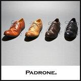 "PADRONE パドローネ ダービープレーントゥシューズ""JACK""メンズ/革靴/短靴 PADRONE PU7358-2001-11C【コンビニ受取対応商品】"