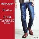 【ポイント10倍/送料無料】RED CARD レッドカード デニム スリムテーパード デニムパンツ Rhythm(KVD) メンズ 17878【コンビニ受取対応商品】