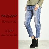 RED CARD レッドカード Synchronicity シンクロニシティ クロップドデニムパンツ(ダメージ)REDCARD 32507【コンビニ受取対応商品】