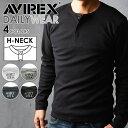 AVIREX アビレックス ヘンリーネック長袖Tシャツ 6153482(618875)avirex ...