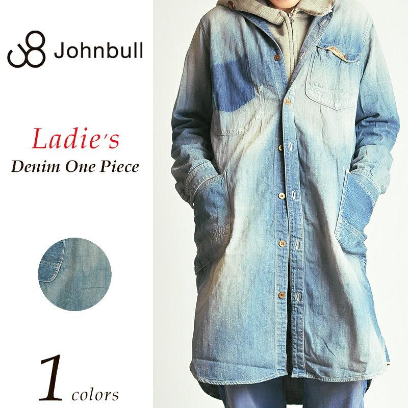 ジョンブル Johnbull **ワークデニムシャツ ワンピース(ユーズド) レディース AW678 ルードドレス