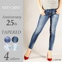 【ポイント10倍/送料無料】RED CARD レッドカード Anniversary 25th ボーイフレンド テーパードデニムパンツ25周年モデル REDCAR...