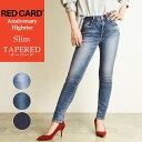 2020秋冬新作 裾上げ無料 レッドカード RED CARD ANNIVERSARY アニバーサリー ハイライズ テーパード デニムパンツ レディース Anniversary Highrise ストレッチ ジーンズ ジーパン REDCARD 26403HR