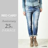 RED CARD レッドカード Anniversary 25th ボーイフレンド テーパードデニムパンツ25周年モデル(ダメージ)REDCARD 13506-1【コンビニ受取対応商品】