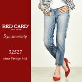 RED CARD レッドカード Synchronicity シンクロニシティ ボーイフレンド クロップドデニムパンツ 32527 REDCARD/レディース/デニムパンツ【コンビニ受取対応商品】