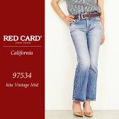 RED CARD レッドカード California カリフォルニア ボーイフレンド フレア デニムパンツ レディース REDCARD 97534【コンビニ受取対応商品】10P03Dec16