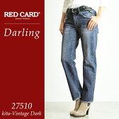 2016新作【ポイント10倍/送料無料】RED CARD レッドカード Darling ダーリン ボーイフレンドデニムパンツ 27510