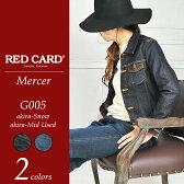 """RED CARD レッドカード """"Mercer"""" デニムジャケット/Gジャン REDCARD G005 レディース 【コンビニ受取対応商品】10P03Dec16"""