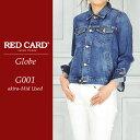 RED CARD レッドカード Globe(グローブ)デニムジャケット/Gジャン REDCARD G001【コンビニ受取対応商品】