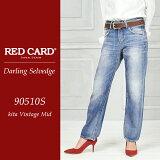 RED CARD ��åɥ����� Darling Selvedge ������� ����ӥå� �ܡ������ǥ˥�ѥ�� 90510S�ڥ���ӥ˼����б����ʡ�