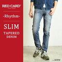 【ポイント10倍/送料無料】RED CARD レッドカード デニム スリムテーパード デニムパンツ Rhythm メンズ 17878-1【コンビニ受取対応商品】