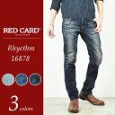 SALEセール10%OFF 裾上げ無料 レッドカード RED CARD Rhythm リズム メンズ テーパードデニムパンツ 16878
