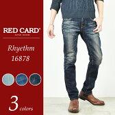 RED CARD レッドカード Rhythm リズム メンズ テーパードデニムパンツ 16878【コンビニ受取対応商品】