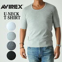 【送料無料】AVIREX アビレックス 五分袖カットソー 6143508(6193142)avirex/アヴィレッ