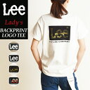 2020春夏新作 送料無料(ゆうパケット) Lee リー ロゴ バックプリント Tシャツ レディース メンズ クルーネック LT4010