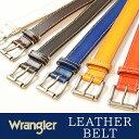 Wrangler/ラングラー ぼかしステッチ レザー ベルト WR3068 メンズ 本革 カジュアル 日本製 WR-3068 【コンビニ受取対応商品】