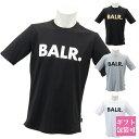 ボーラ— BALR. クルーネック Tシャツ メンズ カジュアル トップス スポーツ 半袖 BRAND T-SHIRT ATHLETIC FIT ブランド Tシャツ アスレチック フィット