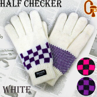 Write a review courier! Cheap women's knit hand bags Thinsulate half Checker white fs2gm