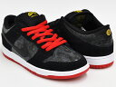 NIKE DUNK LOW PREMIUM SB ''SNAKE EYES''【ナイキ ダンク ロー プロ プレミアム SB】BLACK / BLACK - UNIVERSITY RED