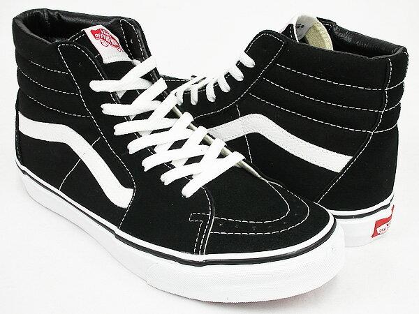 Black White Skate High Vans