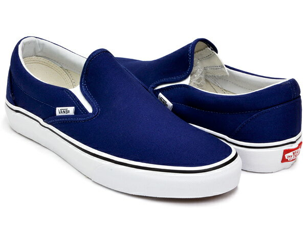 vans slip on classic black and blue