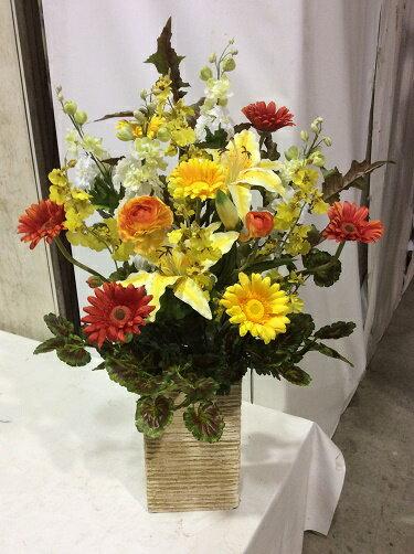 造花アレンジメントH70-90cm特大人工観葉植物