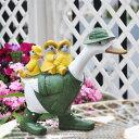 送料無料 アヒルと小鳥あひる かわいい ガーデニング ガーデン 雑貨 オーナメント おしゃれ 置物   ギフト対応 あす楽 おうち時間 大人かわいい雑貨