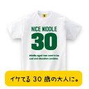 ショッピングmiddle 30歳のお誕生日に!男性向き!NICE MIDDLE Tシャツ おもしろTシャツ 誕生日プレゼント 女性 男性 女友達 おもしろ プレゼント ギフト GIFTEE 【あす楽】