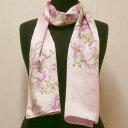 和柄シルクストール(ロングスカーフ) 桜 ピンク【楽ギフ_包装】【日本のおみやげ】【日本の