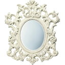 鏡 ミラー おしゃれ かわいい 新生活 事務所開き /グレース スタイル ミラー 「アルゴス(アンティークホワイト)」 壁掛用 GM-30011