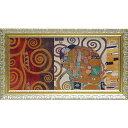 壁掛け飾り 絵画 お祝い 記念品 おしゃれ かわいい GK-12031 /クリムト デコパネル コレクション 「抱擁」 GK-12031