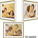 壁掛け飾り 絵画 お祝い 記念品 おしゃれ かわいい TD-06009 /トリック ダブルアート(ラファエロ 「エンジェル」、ブーグレー 「ファーストキス」) 壁掛用 TD-06009