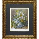 壁掛け飾り 絵画 お祝い 記念品 おしゃれ かわいい MW-18065 /ミュージアム シリーズ (シグレー版画)ルノワール 「大きなかびんの花」 MW-18065