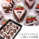 [ギフトパーク]バレンタインチョコ いちごチョコレート[いちごアートチョコ12粒入]誕生日 結婚記念...