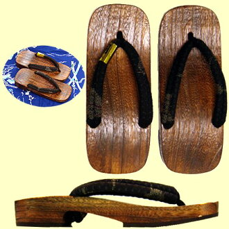 Japanese Sandals for men(geta)traditional pattern black