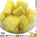 P2倍[6/26迄]冷凍パイン 業務用【冷凍パイナップル 4kg】激安 冷凍果物 冷凍食品 果物