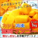 宮崎マンゴーを使用【冷凍 マンゴー 1kg】(あす楽対応)冷凍カット宮崎マンゴー デザート 冷凍フルーツ 果物 マンゴー 業務用やご家庭用に 送料無料