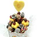 [ギフトパーク]いちごチョコレートフルーツブーケ[チョコいちごブーケ大]誕生日ケーキ 結婚記念日 サプライズプレゼント パーティー フルーツギフト 詰め合わせ スイーツ イチゴ 苺 フルーツチョコ 送料無料 クリスマス お歳暮 御歳暮 バレンタイン