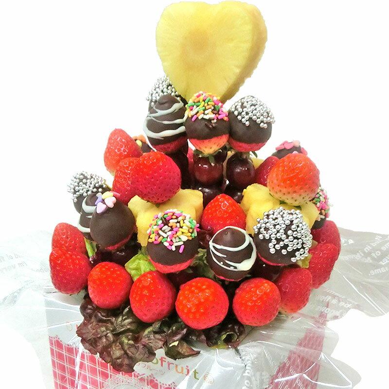 [ギフトパーク]果物イチゴ苺詰め合わせいちごブーケチョコMIXフルーツフラワーギフトフルーツチョコレ
