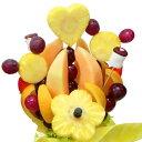 [ギフトパーク]果物詰め合わせ【ハッピーキッズ】ハッピーカラフルーツフラワーギフトカットフルーツ盛合せサプライズプレゼント結婚記念日結婚内祝い誕生日ケーキより面白い珍しい贈り物スイーツ洋菓子フルーツケーキフルーツブーケ春のお祝いホワイトデー