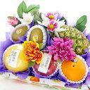 [ギフトパーク]お供え 果物 詰め合わせ 造花付き【い