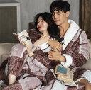 ショッピング着る毛布 「FreelySoul」もふもふペアお揃いガウン 韓国服 もこもこカップルルームウェア 冬 長袖 フランネル 裏起毛 厚手 大人可愛い ペアルック ナイトウェア ナイトガウン あったか部屋着 寝間着 寝巻き 着る毛布 レディース メンズ 恋人 女の子 男の子 まどかPのおすすめ YK-207