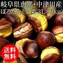 [予約]岐阜県恵那・中津川産 低温熟成栗 ぽろたん3L×2kg(生栗)[発送は10月下旬ごろ JA